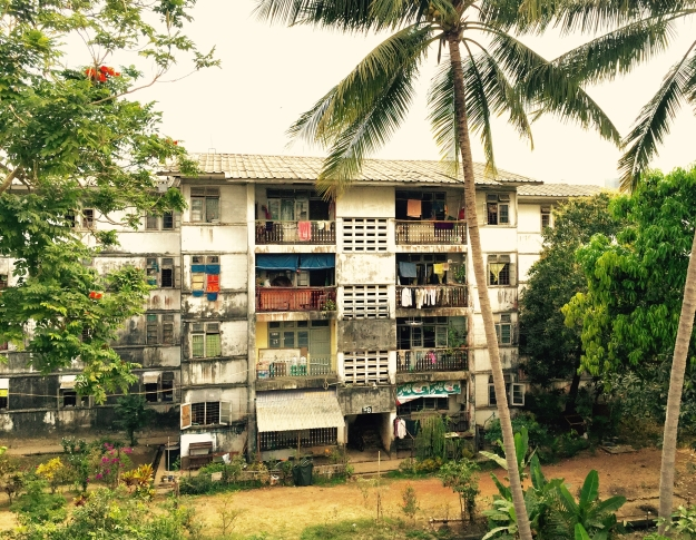 Yangon apartment building